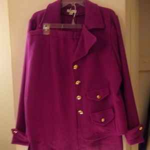 Joan Rivers Pink Two Piece Skirt Suit - Sz XL